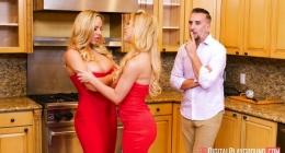 Sarışın lezbiyen kardeşler sikişe uğradı