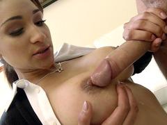 Üniformalı öğrenci oral seks şov
