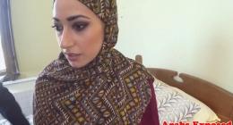 Hijab kadını adeta zevkten havalara uçtu