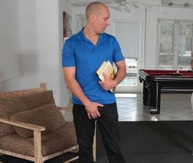 Yoga bahanesiyle hatunu kucakta fena inletiyor