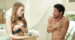 Baba bu halde banyomda ne işin var, baba porno