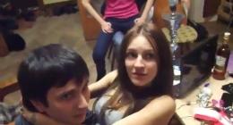 Rus öğrenci evinde çılgın sikiş grup partisi yapılıyor
