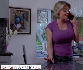 Naughty america porn, olgun sarışın sikiş üstünde