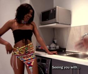 Mutfakta afrikalı kız ile sikişirken kavgalı porno izle