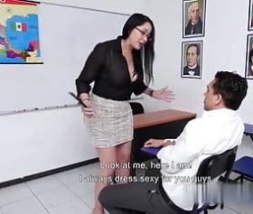 Sınav gözetmeni koca memeli öğretmeni sınav sonrası sikti